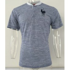 2018 World Cup France Blue Mans Polo (2018世界杯法国蓝色)