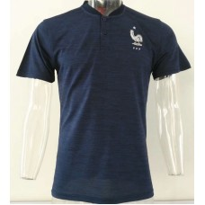 2018 World Cup France Navy Blue Mans Polo (2018世界杯法国深蓝色Polo)
