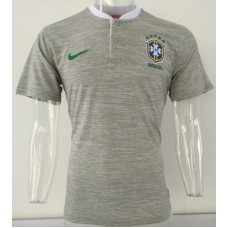 2018 World Cup Brazil Grey Mans Polo (2018世界杯巴西灰色Polo)