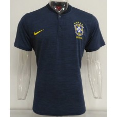 2018 World Cup Brazil Navy Blue Mans Polo (2018世界杯巴西深蓝色Polo)