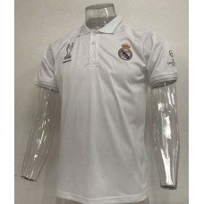 18-19 Real Madrid White Mans Polo (18-19皇马白色Polo)