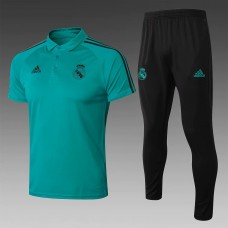 18-19 Real Madrid Green Mans Polo Suit (18-19皇马绿色Polo套装)