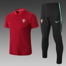 2018 World Cup Portugal Red Mans Polo Suit (18-19葡萄牙红色Polo套装)
