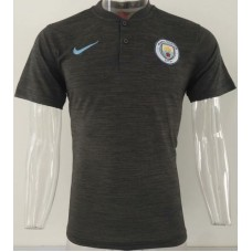 18-19 Manchester City Mans Polo (18-19曼城深灰色POLO)