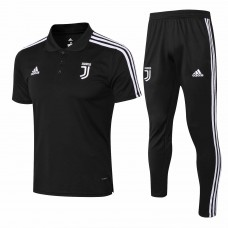 18-19 Juventus Black Mans Polo Suit (18-19尤文黑色Polo套装)