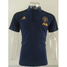 18-19 Manchester United Navy Blue Mans Polo (18-19曼联深蓝色Polo)