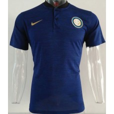 18-19 Inter Milan Blue Mans Polo (18-19国米蓝色Polo)