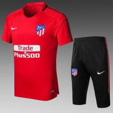 17-18 Atlético de Madrid Red Short-sleeved Training Suit (17-18马竞红色短袖训练服)