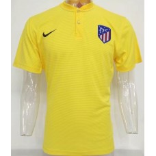 17-18 Atletico Madrid Yellow Man's Polo (17-18 马竞黄色Polo)