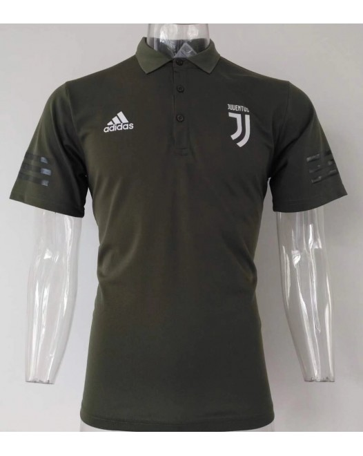 17-18 UEFA Champions League Juventus Green Mans Polo  (17-18 尤文欧冠绿色Polo)
