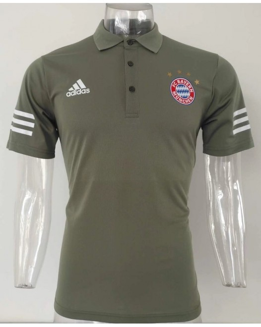 17-18 UEFA Champions League Bayern Green Mans Polo (17-18 拜仁欧冠绿色Polo)