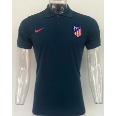 17-18 UEFA Champions League Atletico Madrid Blue Man's Polo (17-18 欧冠马竞蓝色Polo)