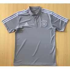 2018 World Cup Germany Gray Man's Polo (2018世界杯德国灰色Polo)