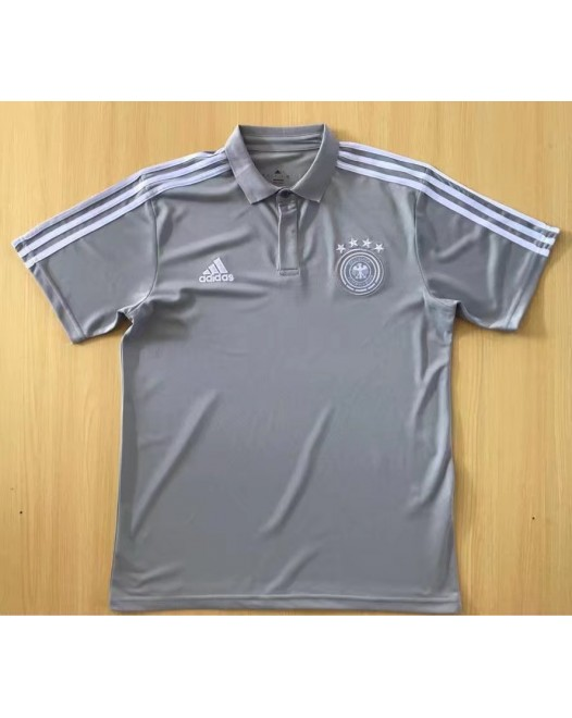 2018 World Cup Germany Gray Mans Polo (2018世界杯德国灰色Polo)