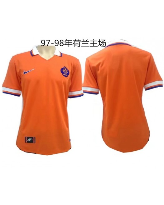 97-98 Netherlands Home Retro Jersey 荷兰97-98主场复古