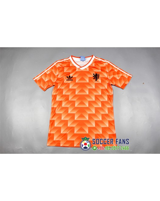 1988 Netherlands Home Retro Jersey 荷兰1988主场复古
