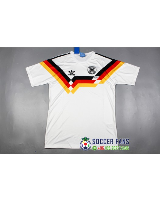 1990 Germany Home White,Retro Jersey(1990德国主场白色复古)