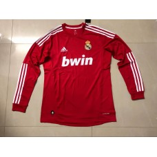 2012 Real Madrid Red Retro Long sleeve Jersey (2012年皇马红色复古长袖)