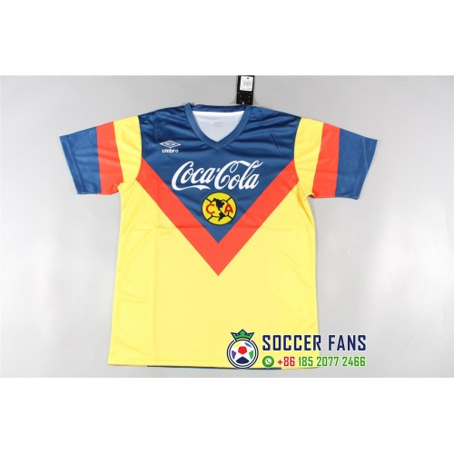 Club America Yellow jersey Retro Jersey (美洲黄色泰版复古短袖)