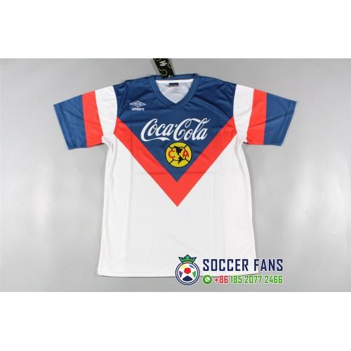 3fe64c497 Club America Blue jersey Retro Jersey (美洲蓝色泰版复古短袖)