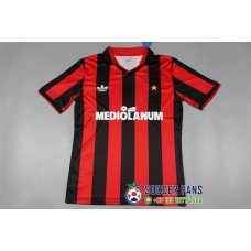 91-92 AC Milan Home Red Retro Jersey (91-92 AC米兰主场红色复古短袖)