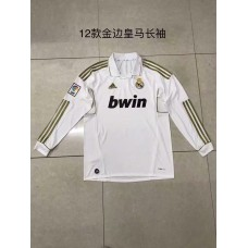 2012 Real Madrid (Black, White) Retro Long sleeve Jersey (2012年皇马黑色复古长袖)