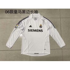 2006 Real Madrid White Retro Long sleeve Jersey (2006皇马白色复古长袖)
