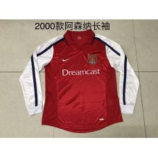 2000 Arsenal Red Retro Long sleeve Jersey (2000年阿森纳红色复古长袖)