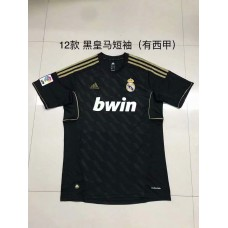 2012 Real Madrid Black Retro Short sleeve Jersey (2012年皇马黑色复短古袖)