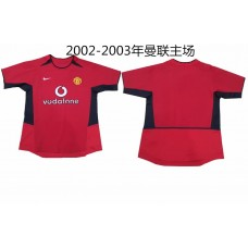 2002-2003 Manchester United Red Retro Short Jersey (2002-2003年曼联主场复古短袖)