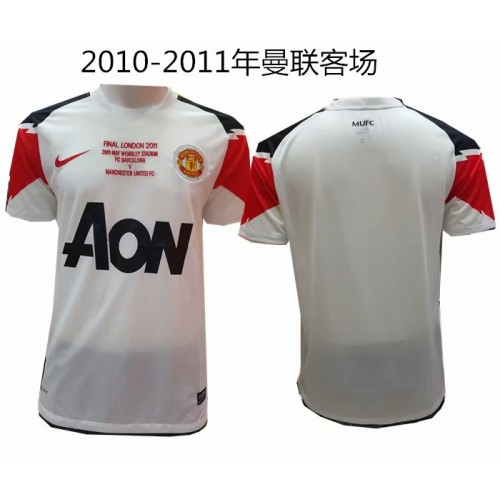 2010-2012 Manchester United Away Retro Short Jersey (2010-2011 曼联客场复古短袖)
