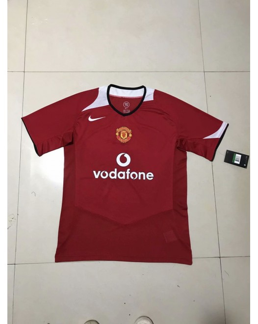 2006 Manchester United Red Retro Short Jersey (2006 曼联红色复古短袖)