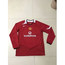 2005 Manchester United Red Retro Long Jersey (2005 曼联红色复古长袖)