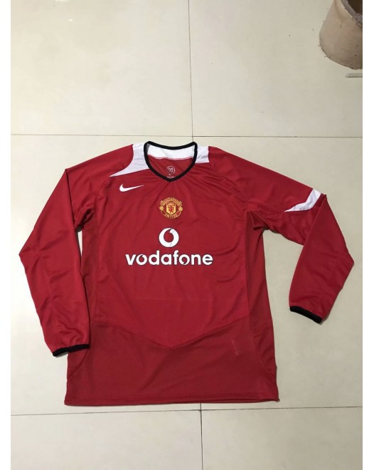 2006 Manchester United Red Retro Long Jersey (2006 曼联红色复古短袖)