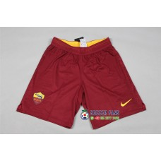 18-19 Roma Home Red Player Version Shorts (18-19罗马主场红色短裤球员)