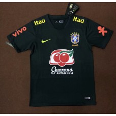 18-19 Brazil Black Training T-shirt (18-19 巴西黑色训练T恤)