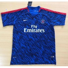 17-18 PSG Blue Short-sleeved Training Suit (17-18巴黎蓝色训练服)