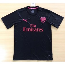 17-18 Arsenal Black Short-sleeved T-shirt (17-18阿森纳黑色短袖体恤)