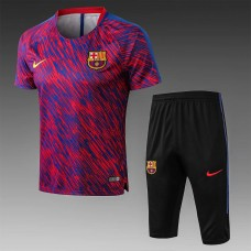 17-18 Barcelona Short-sleeved Training Suit (17-18巴塞红色短袖训练服)