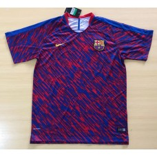 17-18 Barcelona Short-sleeved Training Suit (17-18巴塞红色训练服)
