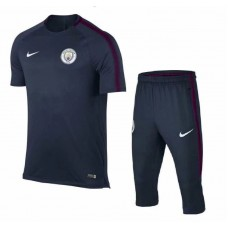 17-18 Manchester City Blue Short-sleeved Training Suit (17-18曼城蓝色短袖训练服)