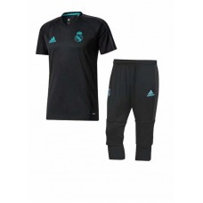 17-18 Real Madrid Black Short-sleeved Training Suit (17-18皇马黑色短袖训练服)