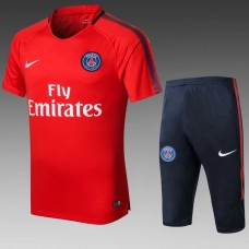 17-18 PSG Red Short-sleeved Training Suit (17-18巴黎红色短袖训练服)