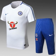17-18 Chelsea White Short-sleeved Training Suit (17-18切尔西白色短袖训练服)