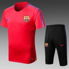 17-18 Barcelona Red Short-sleeved Training Suit (17-18巴塞红色短袖训练服)
