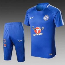 17-18 Chelsea Blue Short-sleeved Training Suit (17-18切尔西蓝色短袖训练服)