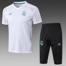 17-18 Real Madrid White Short-sleeved Training suit (17-18皇马白色短袖训练服)