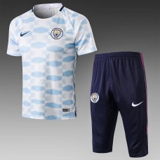 17-18 Manchester City Short-Sleeved Training Suit (17-18曼城移印短袖训练服)