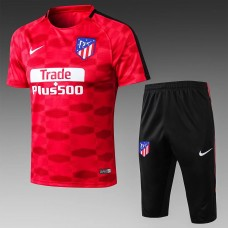 17-18 Atlético de Madrid Red Short-Sleeved Training Suit (17-18马竞红色移印短袖训练服)