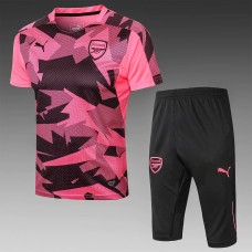 17-18 Arsenal Pink Short-Sleeved Training Suit (17-18阿森纳蓝色短袖训练服)